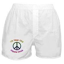 Hippie Chick 70th Birthday Boxer Shorts