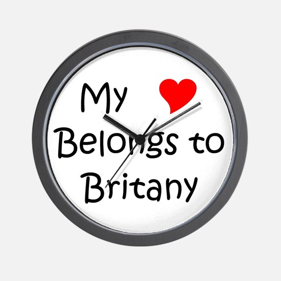 My heart belongs lazaro Wall Clock