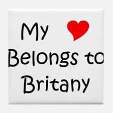 Cool My heart belongs to a nurse Tile Coaster