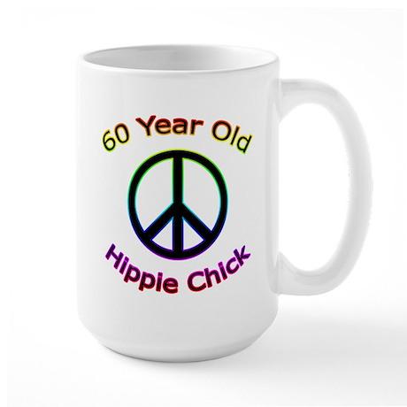 Hippie Chick 60th Birthday Large Mug