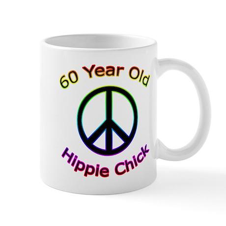 Hippie Chick 60th Birthday Mug