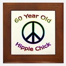 Hippie Chick 60th Birthday Framed Tile