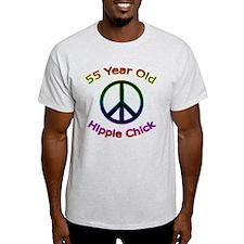 Hippie Chick 55th Birthday T-Shirt