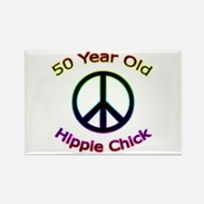 Hippie Chick 50th Birthday Rectangle Magnet