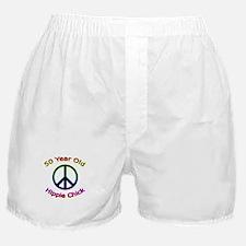 Hippie Chick 50th Birthday Boxer Shorts
