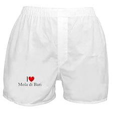 """I Love (Heart) Mola di Bari"" Boxer Shorts"