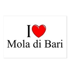 """I Love (Heart) Mola di Bari"" Postcards (Package o"