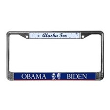 Alaska for Obama License Plate Frame