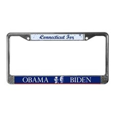 Connecticut for Obama License Plate Frame