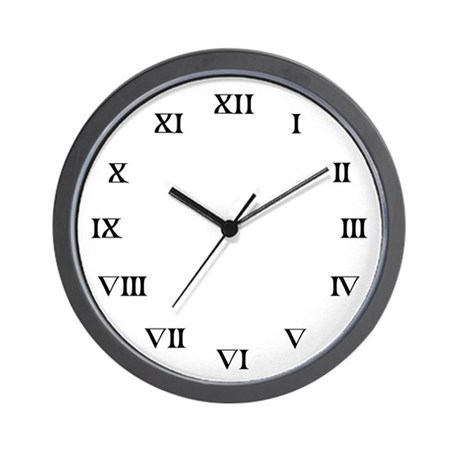 Roman Number Wall Clock