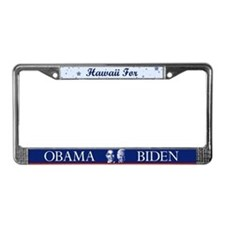 Hawaii for Obama License Plate Frame