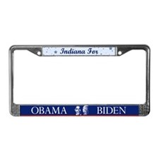Indiana for Obama License Plate Frame