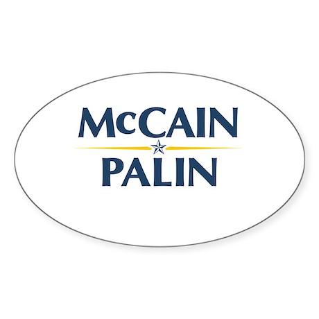 McCain Palin Oval Sticker