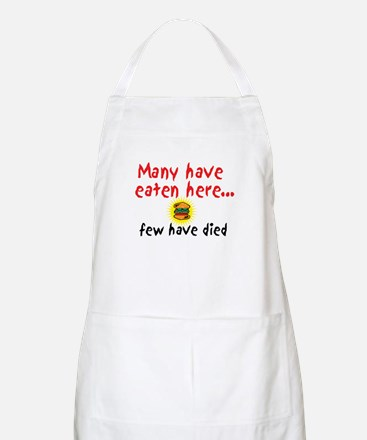 Many Have Eaten Here BBQ Apron