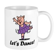 Let's dance pig Small Mugs