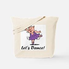 Let's dance pig Tote Bag