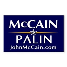 McCain / Palin Official Official Sticker - 10 Pack