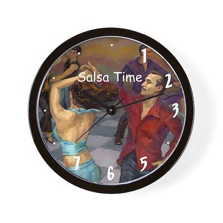 Salsa Time Smooth Salsa Wall Clock