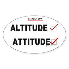 *New Design* Attitude-Check! Oval Decal