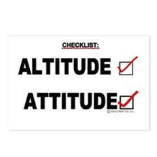 *New Design* Attitude-Check! Postcards (Package of