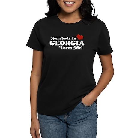 Somebody in Georgia Loves Me Women's Dark T-Shirt