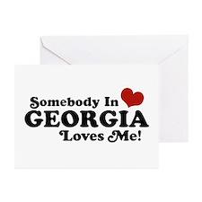 Somebody in Georgia Loves Me Greeting Cards (Pk of