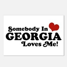 Somebody in Georgia Loves Me Postcards (Package of