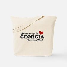 Somebody in Georgia Loves Me Tote Bag