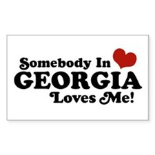 Somebody in Georgia Loves Me Rectangle Decal