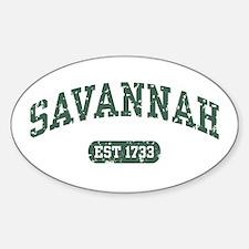 Savannah Est 1733 Oval Decal