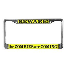 Zombie Plan License Plate Frame