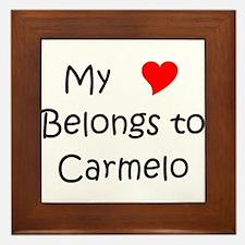 Funny Carmelo Framed Tile