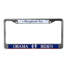 Maryland for Obama License Plate Frame