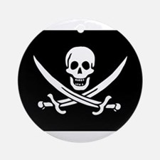 Pirate Captain Calico Jack Ra Ornament (Round)