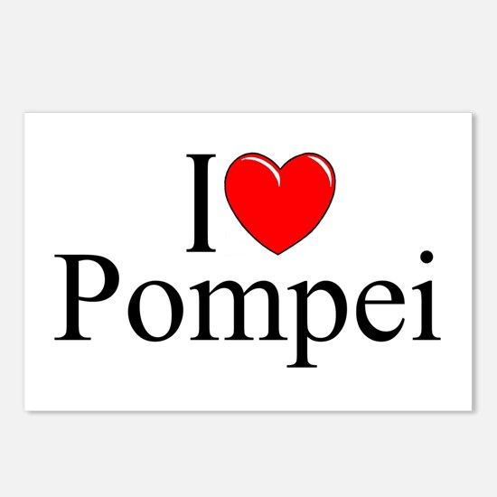 """""""I Love (Heart) Pompei"""" Postcards (Package of 8)"""