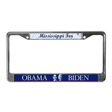 Mississippi for Obama License Plate Frame