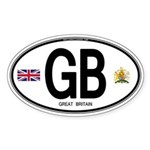 Great Britian (GB) Euro Oval Oval Sticker (10 pk)