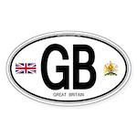 Great Britian (GB) Euro Oval Oval Sticker (10 pk)