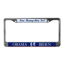 New Hampshire for Obama License Plate Frame