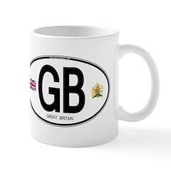 Great Britian (GB) Euro Oval Mug