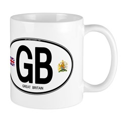 Great Britian (GB) Euro Oval Mug
