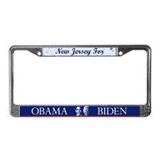 New Jersey for Obama License Plate Frame