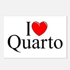 """I Love (Heart) Quarto"" Postcards (Package of 8)"