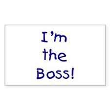 I'm the Boss! (blue) Rectangle Decal