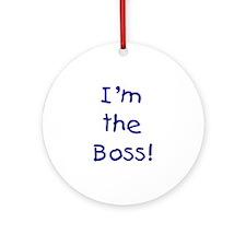 I'm the Boss! (blue) Keepsake (Round)