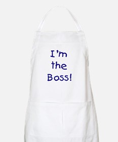 I'm the Boss! (blue) BBQ Apron
