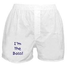I'm the Boss! (blue) Boxer Shorts