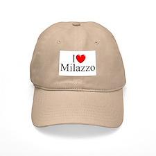 """""""I Love (Heart) Milazzo"""" Baseball Cap"""