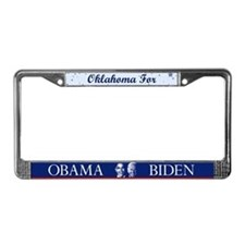Oklahoma for Obama License Plate Frame