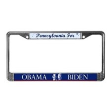 Pennsylvania for Obama License Plate Frame